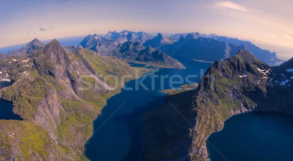 Mozzafiato Norvegia panorama montagna Foto d'archivio © Harlekino