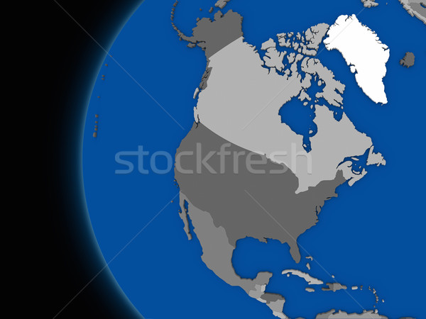 north american continent on political Earth Stock photo © Harlekino