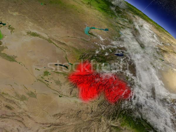 Tajiquistão espaço vermelho ilustração 3d Foto stock © Harlekino