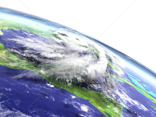 Furacão catástrofe enorme acima costa Flórida Foto stock © Harlekino