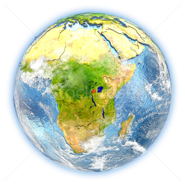 Rwanda on Earth isolated Stock photo © Harlekino