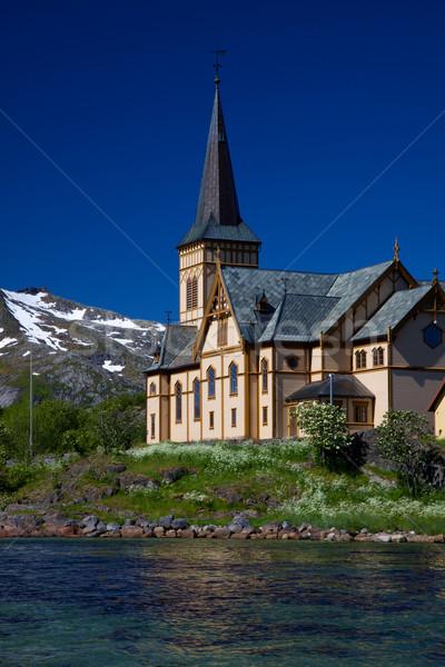 Сток-фото: собора · живописный · Норвегия · Европа · христианской