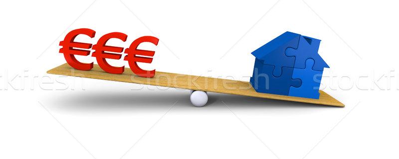 House heavier than euros Stock photo © Harlekino