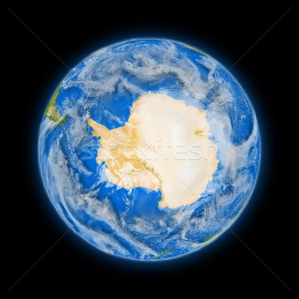 Stock photo: Antarctica on planet Earth
