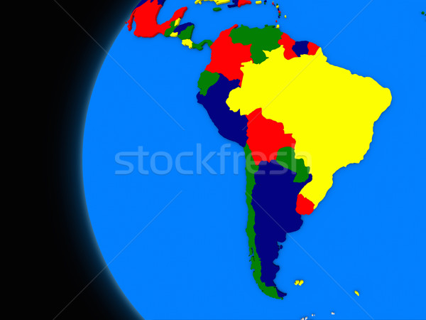 south american continent on political Earth Stock photo © Harlekino