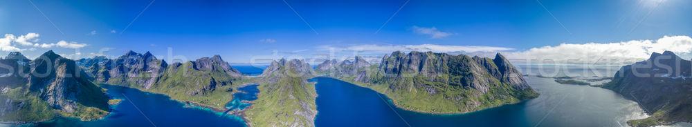 Fjords panorama Stock photo © Harlekino