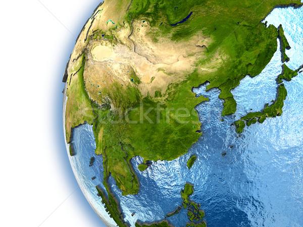 Güneydoğu asya dünya gezegeni kıtalar ülke elemanları Stok fotoğraf © Harlekino