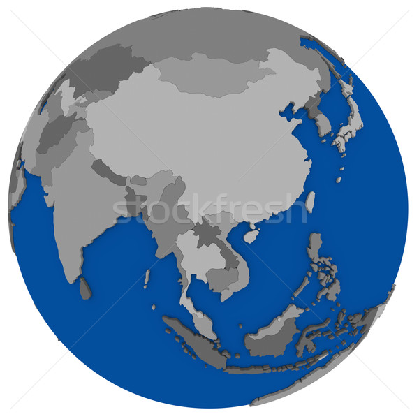 Stock photo: southeast Asia on Earth political map