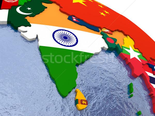 Índia político mapa região país modelo Foto stock © Harlekino