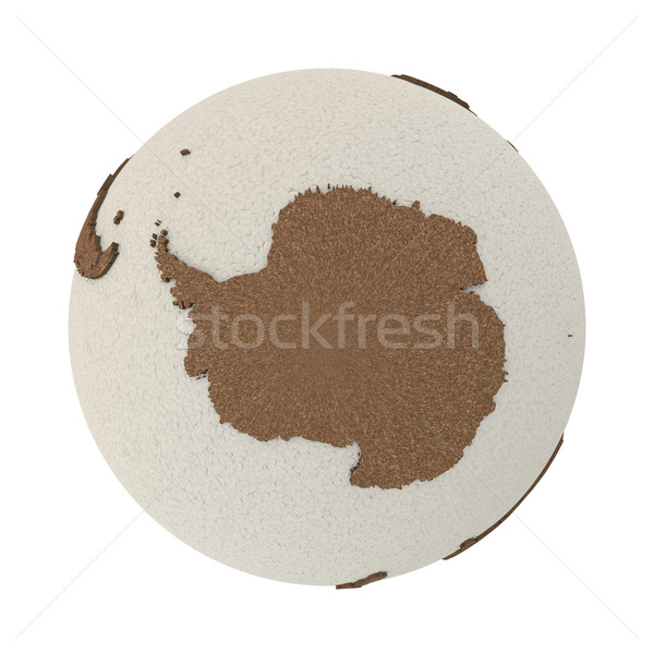 Antarctica on light Earth Stock photo © Harlekino