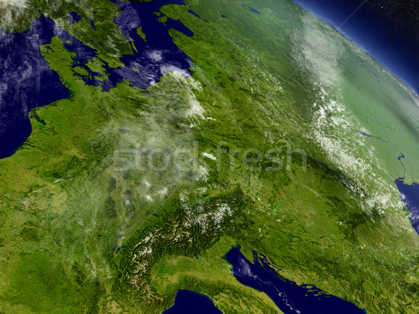 Central Europe from space Stock photo © Harlekino
