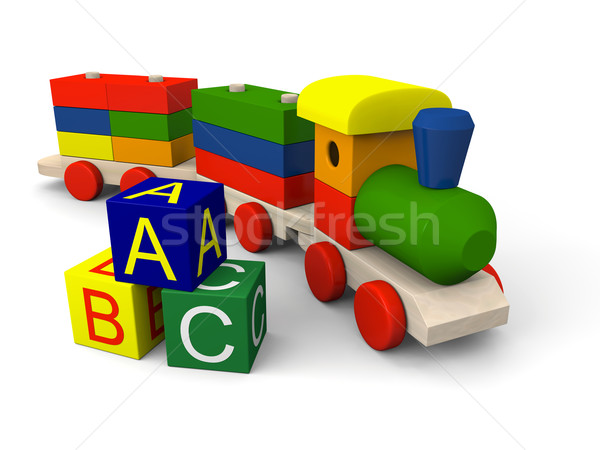 Toy train Stock photo © Harlekino
