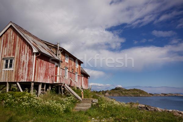 Old decaying fishing house Stock photo © Harlekino