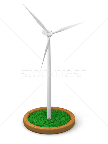 Model of wind turbine Stock photo © Harlekino