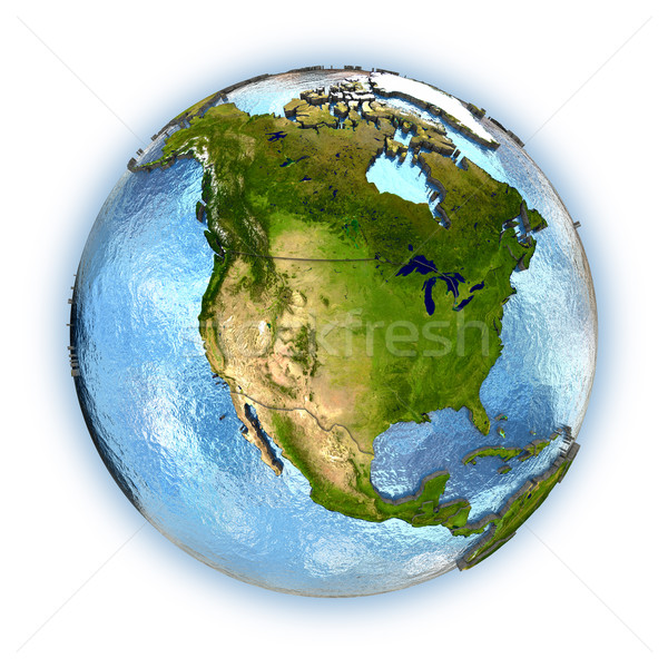 Norte américa planeta terra continentes país Foto stock © Harlekino