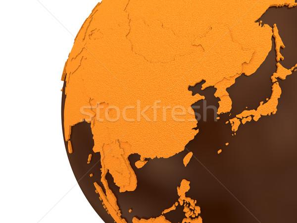 Ázsia csokoládé Föld Délkelet-Ázsia modell Föld Stock fotó © Harlekino