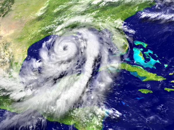 ураган огромный Флорида Америки 3d иллюстрации Элементы Сток-фото © Harlekino