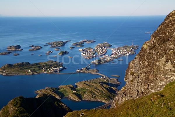 города живописный Норвегия популярный туристических Сток-фото © Harlekino
