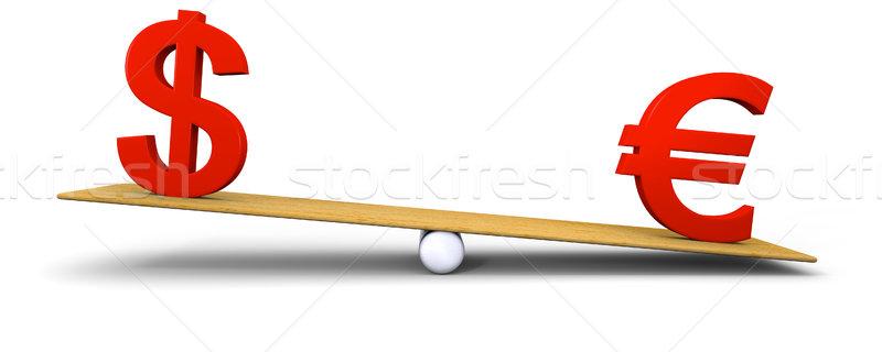 Euro heavier than dollar Stock photo © Harlekino
