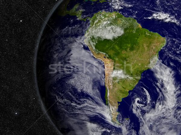 Южной Америке планете Земля регион пространстве звезды Элементы Сток-фото © Harlekino