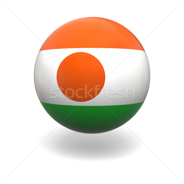 Níger bandera esfera aislado blanco gráficos Foto stock © Harlekino