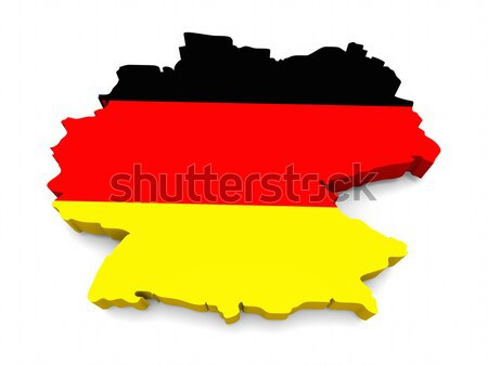 German flag shaped as the country Stock photo © Harlekino