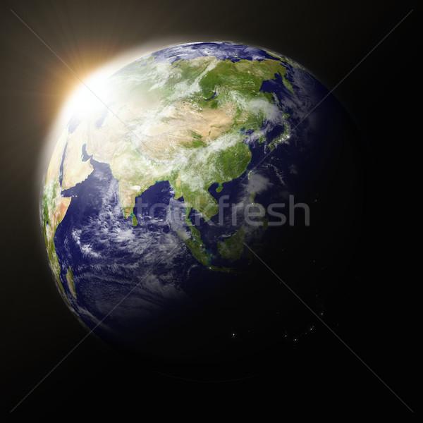 Planet Earth sunset Stock photo © Harlekino