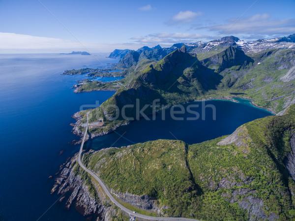 Coastal road on Lofoten Stock photo © Harlekino