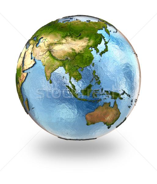 Güneydoğu asya toprak ayrıntılı dünya gezegeni kıtalar Stok fotoğraf © Harlekino