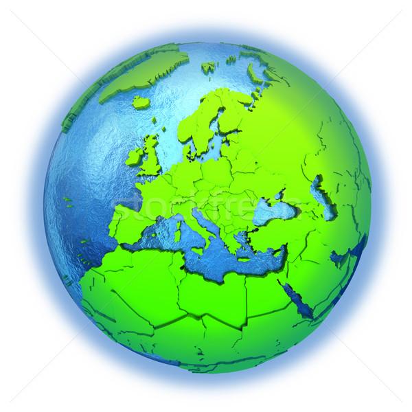 Europe on green Earth Stock photo © Harlekino