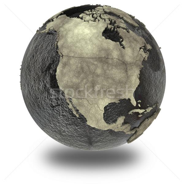 North America on Earth of oil Stock photo © Harlekino