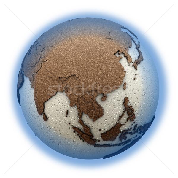 Sudeste da Ásia luz terra 3D modelo planeta terra Foto stock © Harlekino