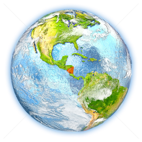 Nicaragua Föld izolált piros Föld 3d illusztráció Stock fotó © Harlekino