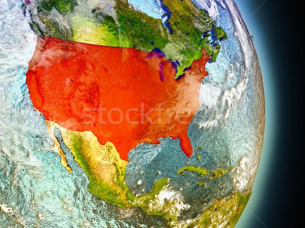 米国 赤 スペース モデル 軌道 3次元の図 ストックフォト © Harlekino