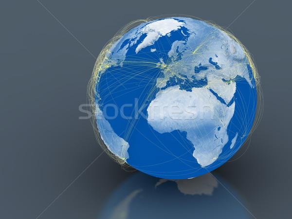 Connected world Stock photo © Harlekino