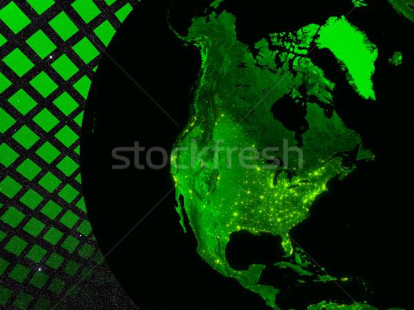 North America technology concept Stock photo © Harlekino
