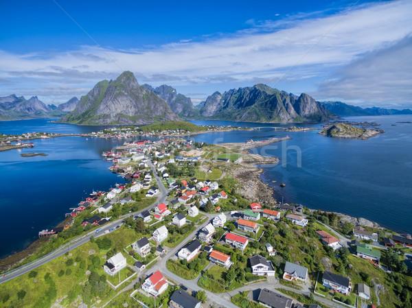 Pitoresco pescaria cidade Noruega Foto stock © Harlekino
