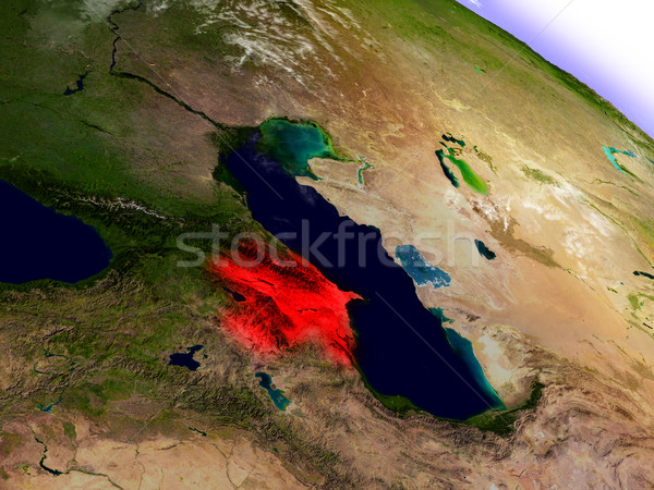 アゼルバイジャン スペース 赤 軌道 3次元の図 ストックフォト © Harlekino