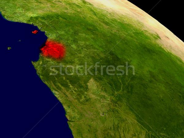赤道ギニア スペース 赤 3次元の図 詳しい ストックフォト © Harlekino