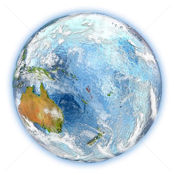 Vanuatu terra isolado vermelho planeta terra ilustração 3d Foto stock © Harlekino