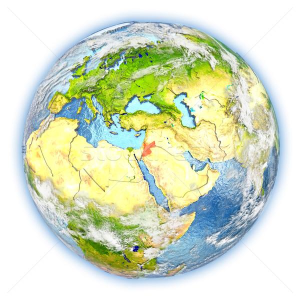 Jordânia terra isolado vermelho planeta terra ilustração 3d Foto stock © Harlekino