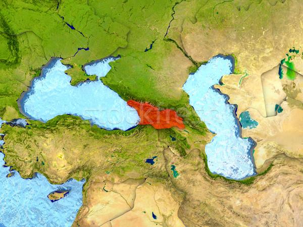 Vermelho ver região ilustração 3d detalhado Foto stock © Harlekino