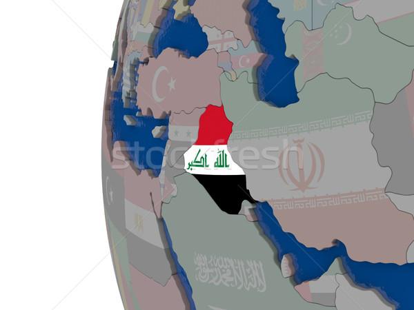 Bandeira mapa ilustração 3d globo viajar Ásia Foto stock © Harlekino