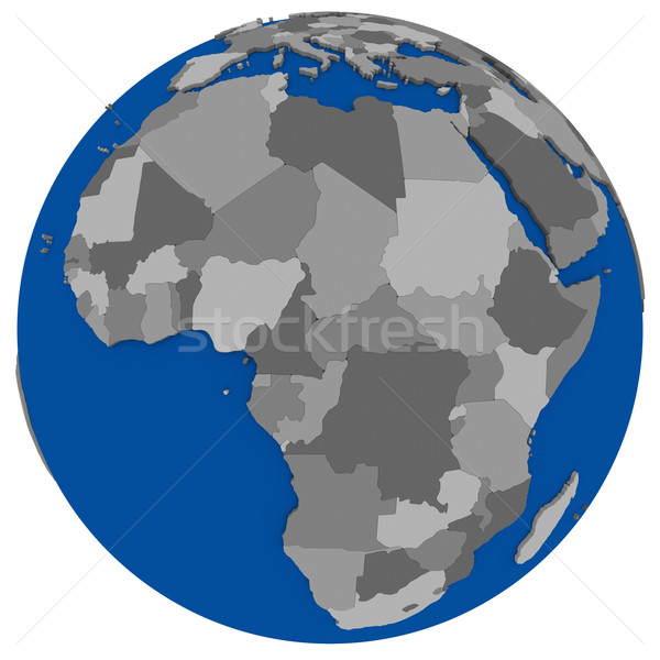 Stockfoto: Afrika · aarde · politiek · kaart · wereldbol · illustratie