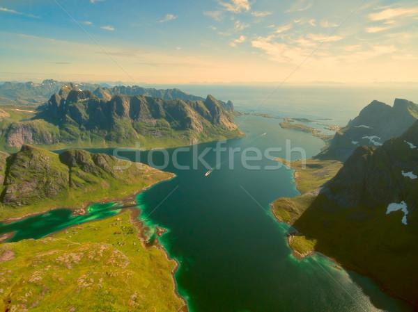 Fjord in Norway Stock photo © Harlekino