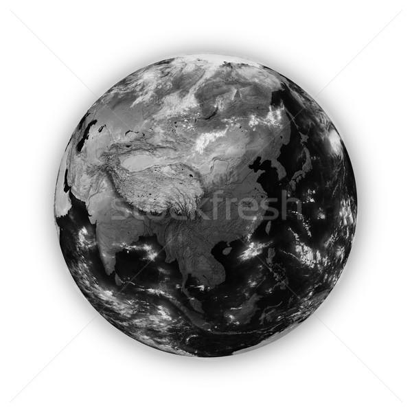 東南アジア 暗い 地球 孤立した 白 ストックフォト © Harlekino
