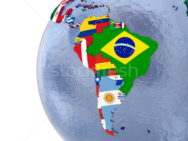 Siyasi güney amerika harita ülke dünya model Stok fotoğraf © Harlekino