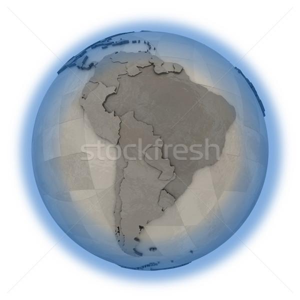 Güney amerika madeni dünya gezegeni 3D model çelik Stok fotoğraf © Harlekino