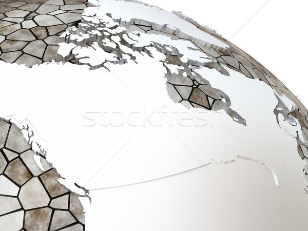 Kanada áttetsző Föld fémes modell Föld Stock fotó © Harlekino