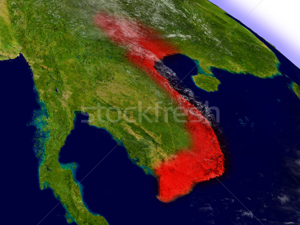 Viêt-Nam espace rouge 3d illustration Photo stock © Harlekino